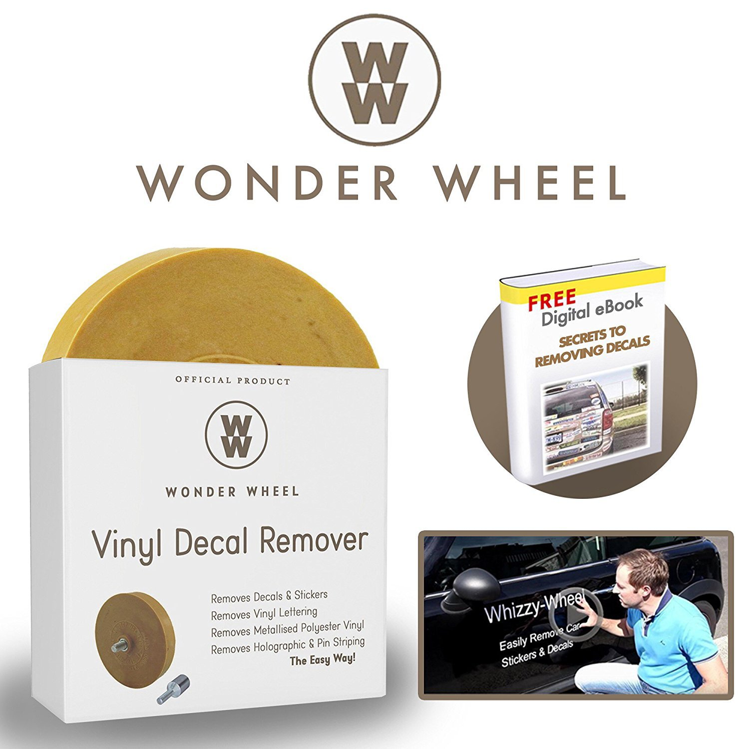 Amazoncom Decal Remover Eraser Wheel Remove Car Decals Vinyl - Custom vinyl decals for glass removal options