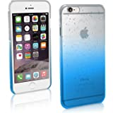 """iGadgitz Blue / Clear Raindrop Slim PC Hard Back Case Cover for Apple iPhone 6 & 6S 4.7"""" + Screen Protector"""