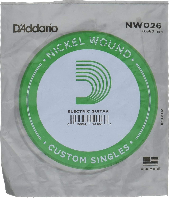 D'Addario NW026 - Cuerda para guitarra eléctrica de níquel.026