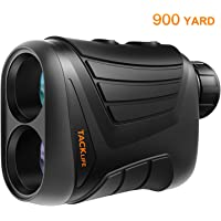 Golf Rangefinder 900 Yards- Tacklife 7X Laser Range Finder with Pinsensor, Range/Speed/Scan Mode for Golf, Hunting, Boating, Hiking, USB Charging Cable and Wrist Strap Included - MLR01