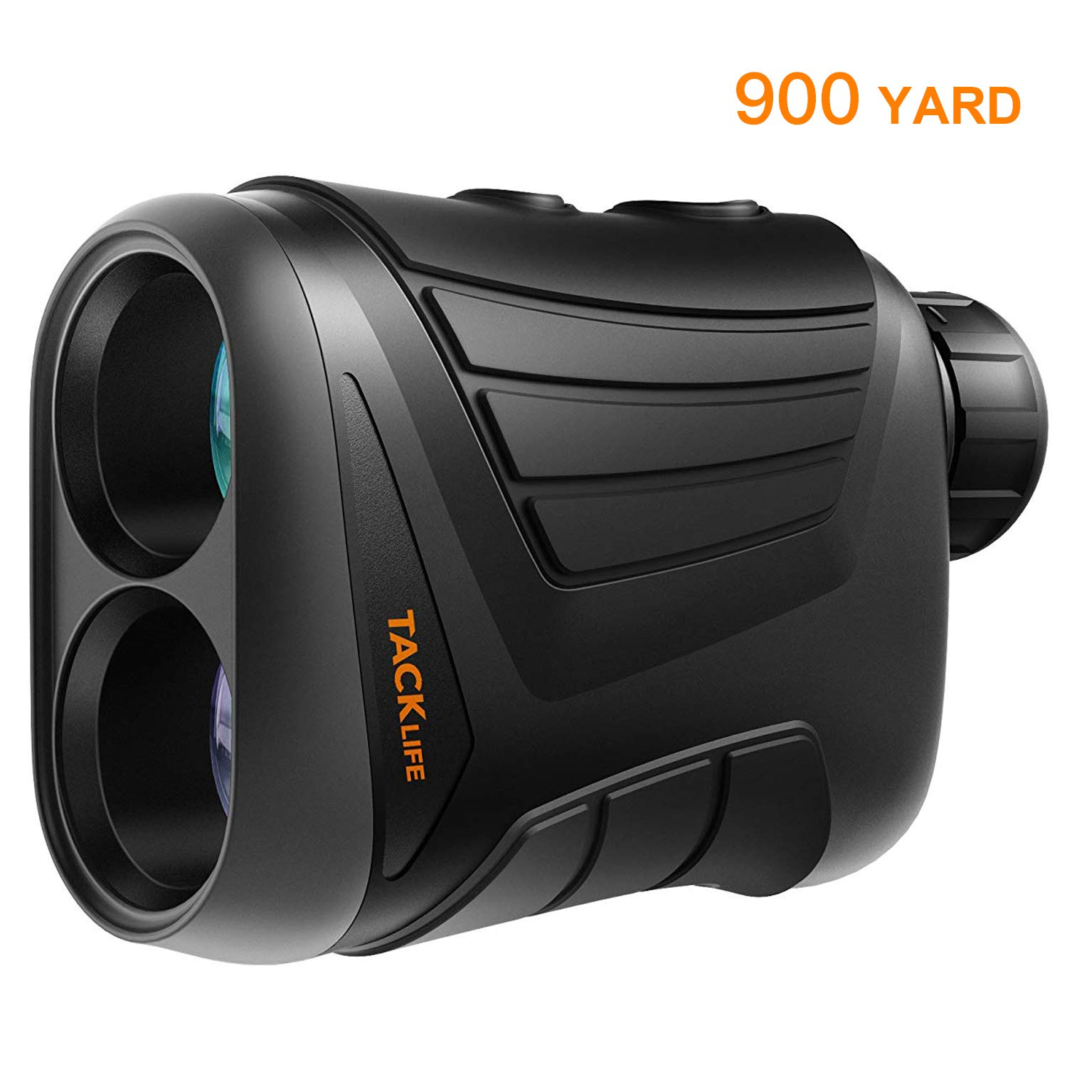 Laser Rangefinder 900 Yards- Tacklife 7X Range Finder with Pinsensor, Range/Speed/Scan Mode for Golf, Hunting, Boating, Hiking, USB Charging Cable and Wrist Strap Included - MLR01