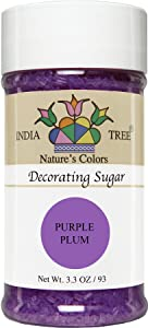 India Tree Nature's Colors Purple Plum Decorating Sugar, 3.3 Ounce