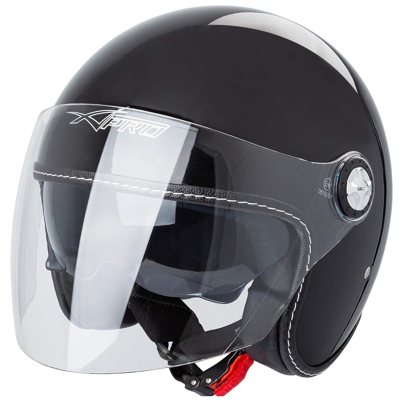 Motorradhelm Jet Helmet City Retr/ò ECE 22-05 Doppel Visier Scooter Wei/ß XS
