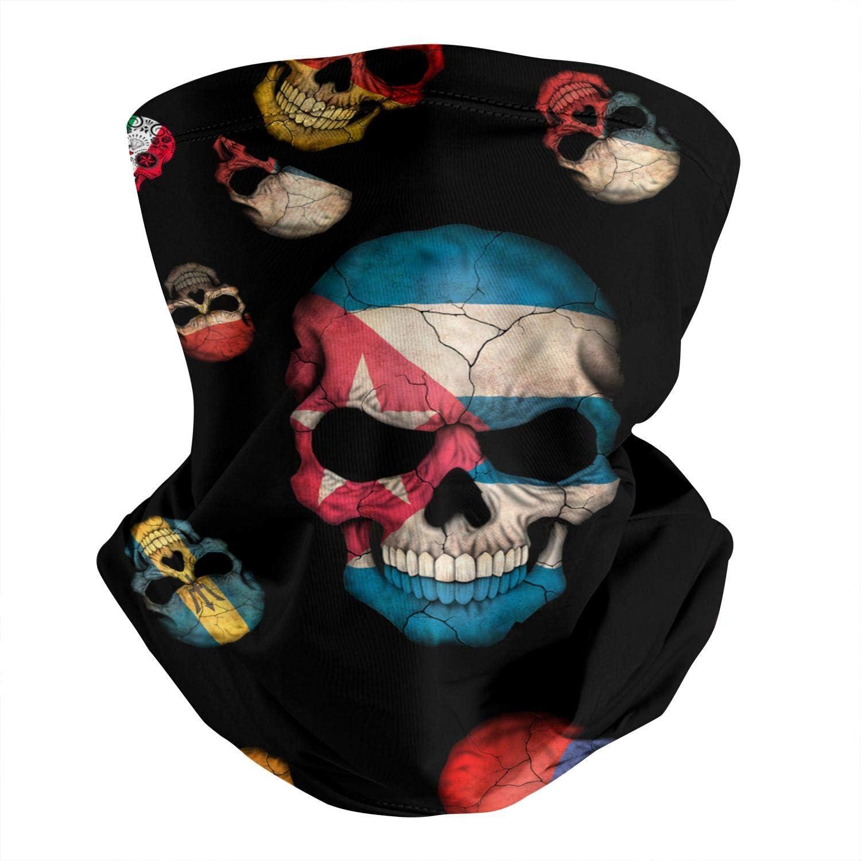 Skull And Flowers Day Of The Dead Men /& Women Face Cover Bandana Multifunctional Headband Scarf Neck Gaiter Balaclava