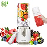 Antioxidant Portable Blender for Shakes and Smoothies, Personal Blender USB Rechargeable with Vacuum Lid