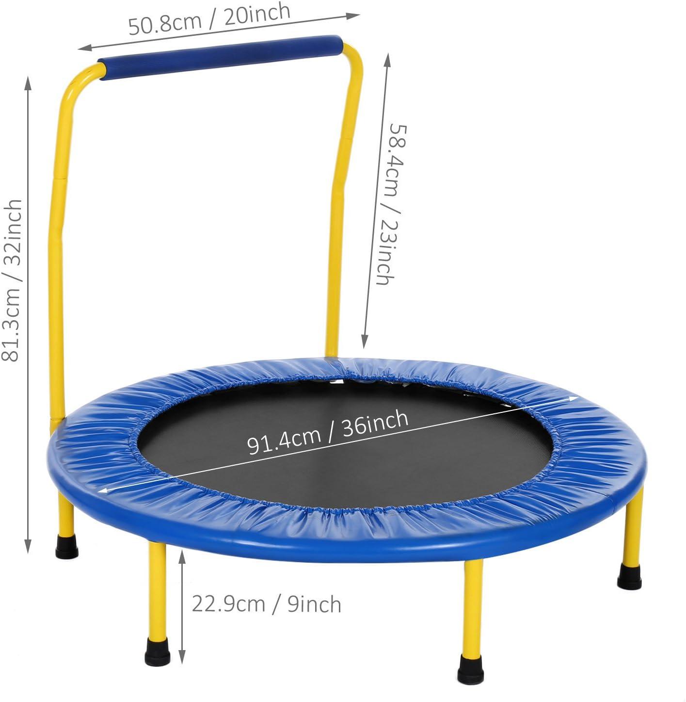 Pliable Suspension silencieuse Eloklem Trampoline de Fitness Trampoline Int/érieur//Ext/érieur Adulte Enfant