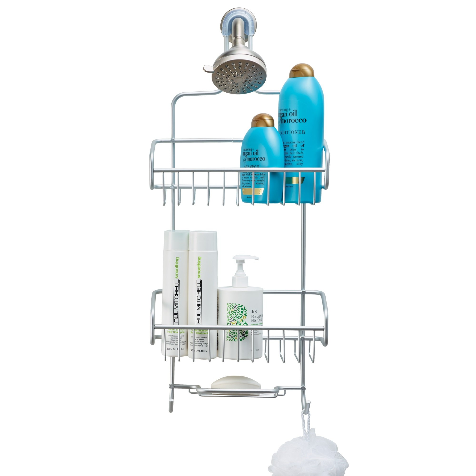 Better Houseware Extra Large Shower Caddy - Silver