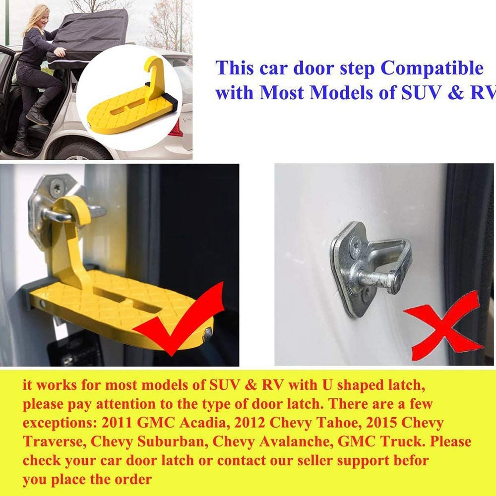 tragbar mit Sicherheitshammer f/ür SUV Haude Autot/ürstufe zusammenklappbar