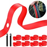 8 Pieces Rim Strip Bicycle Rim Tape Bike Inner Tube Bike High Pressure Tire Proof with 2 Packs Bicycle Tire Lever Fits Size 26 Inch or 700C