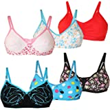 Lime Women's Cotton Cup Bra - Pack of 6