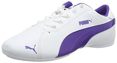 Puma Unisex-Kinder Janine Dance 2 Low-Top, Weiß White-Prism Violet