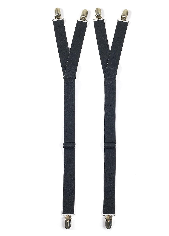 Jelinda jarretelle homme /porte jaretelle/shirts stay/Jarretière/soutien chemise en nylon élastique pour homme ou femme noir Taille Unique H016