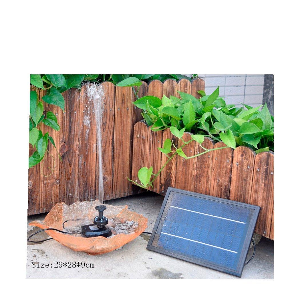 HUANGYABO Jardín Decoración Mini Solar Powered Solar Panel Fuente Jardín De La Piscina Jardín De Riego: Amazon.es: Jardín