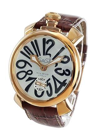 huge selection of 00c99 a238d Amazon   (ガガミラノ)GAGA MILANO ガガミラノ腕時計 マヌアーレ ...