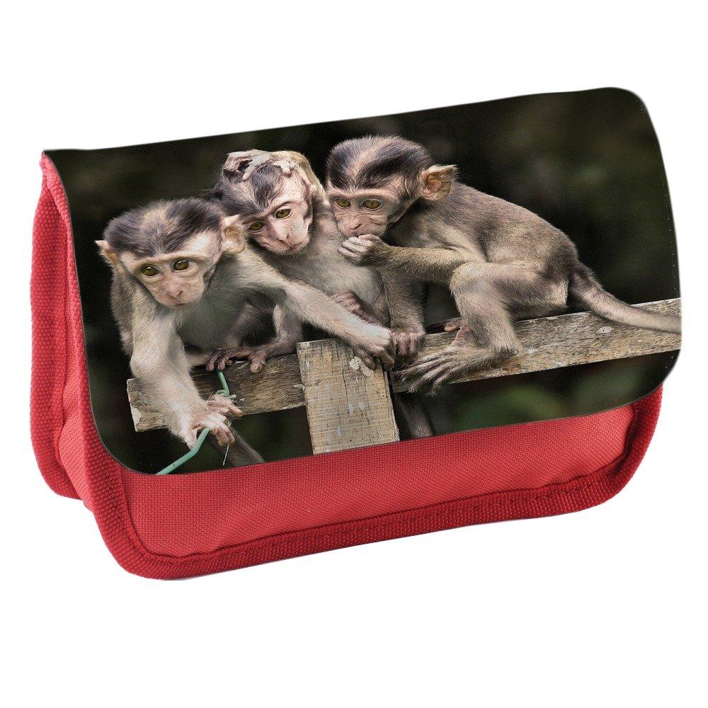 Monos 10020, Capuchin, Rojo Escuela Niños Sublimación Alta ...