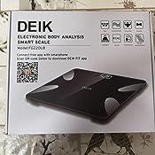 Báscula de Baño Inteligente Digital de Alta Medición Precisa, Bascula Grasa Corporal, Balanza Digital Baño con Bluetooth por iOS y Android App, Análisis Corporal de13 Funciones, 180 kg / 400 lb/30st.: Amazon.es: