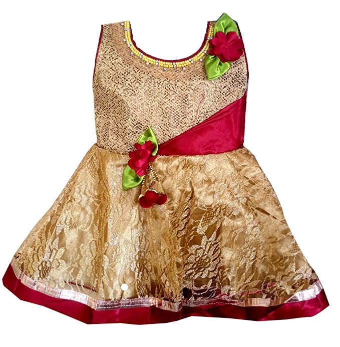 6efc02c90425 ALL ABOUT PINKS reg  Princess Dress for Babies Birthday Frock for ...