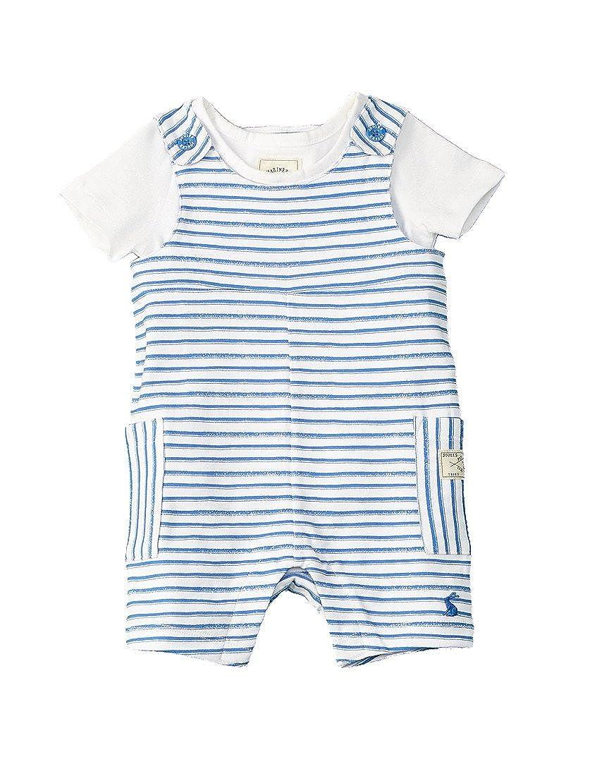 Joules Jersey Latzhose und T-Shirt Set - Blauer Streifen
