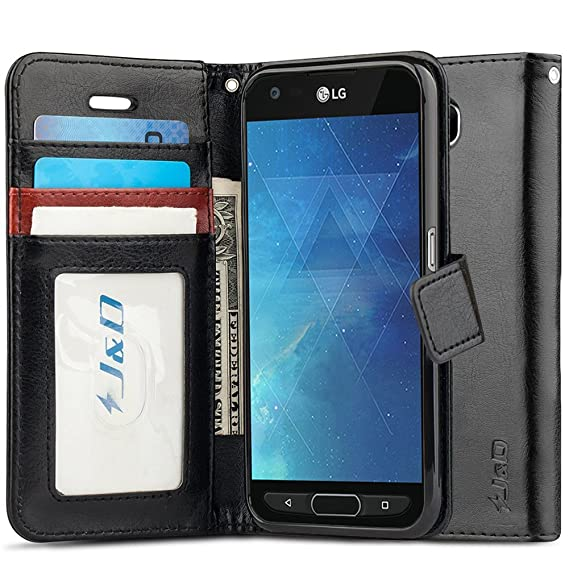 sports shoes 6a323 be276 J&D Case Compatible for LG X Venture/LG X Calibur/LG V9 Case, [Wallet  Stand] [Slim Fit] Heavy Duty Shock Resistant Flip Cover Wallet Case for LG  X ...