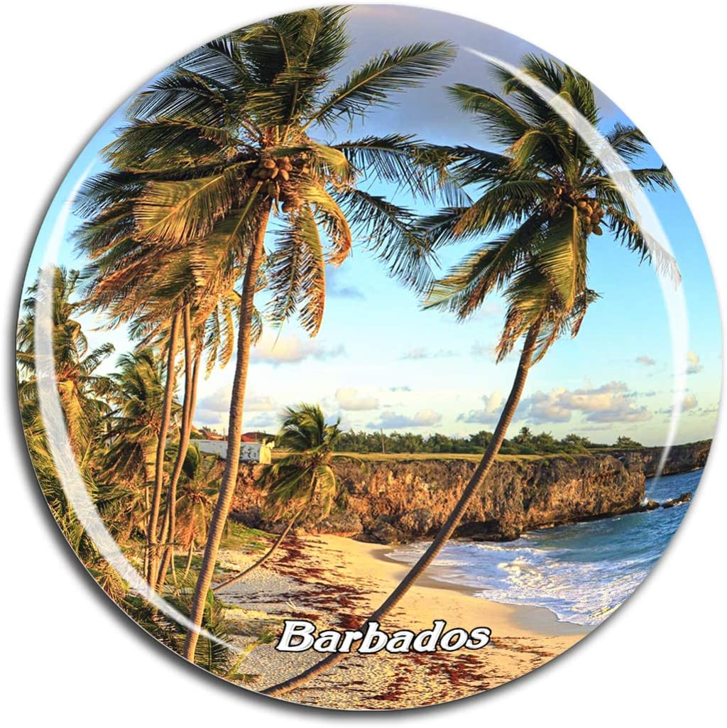 Barbados Caribbean Sea Fridge Magnet 3D Crystal Glass Tourist City Travel Souvenir Collection Gift Strong Refrigerator Sticker