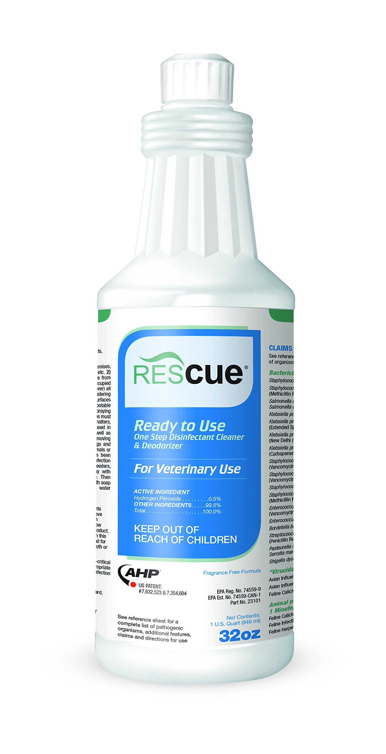 Rescue RTU One-Step Disinfectant Cleaner & Deodorizer, 32 oz. Squeeze Bottle
