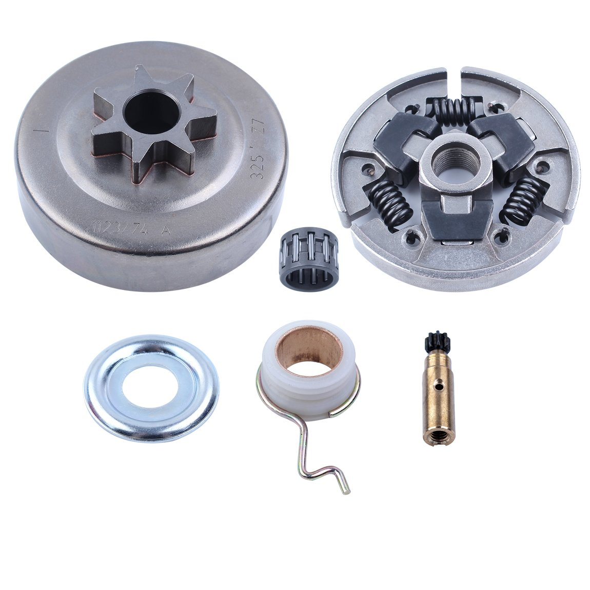 Worm Gear Oil Pump Washer Needle Bearing 3/8-7T Clutch Drum Kit For STIHL 025 MS210 MS230 MS250 017 018 MS170 MS180 170 180 021 023 Chainsaw by Haishine