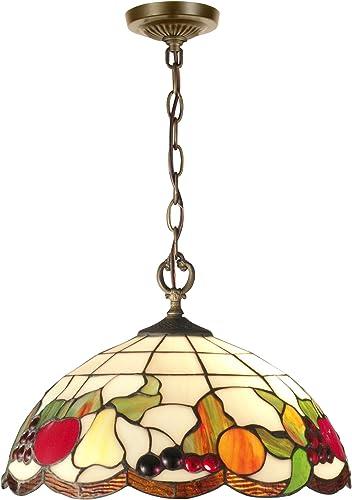 Springdale STH11002 Fruits Tiffany Pendant, Antique Brass
