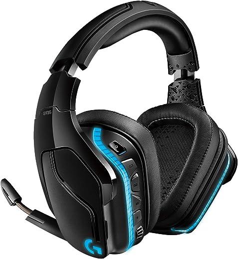 Logitech G935 Cuffie Gaming RGB Wireless, Audio Surround 7.1, Cuffie DTS: X 2.0, Driver Pro-G 50 mm, 2.4 GHz Wireless, Microfono Flip-to-Mute, Tasti G, PC/Mac/Xbox One/PS4/Nintendo, Nero