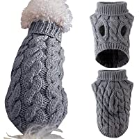 Small Dog Sweaters, MOIHSING Dog Jumpers Pet Cat Warm Sweatshirt Kitten Puppy Knitted Dog Winter Clothes, Pet Winter…