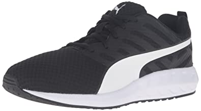 puma running shoes. puma men\u0027s flare mesh running shoe, puma black/puma white, shoes a