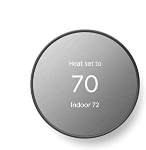 Google Nest Thermostat - Smart Thermostat for Home - Programmable Wifi Thermostat - Charcoal