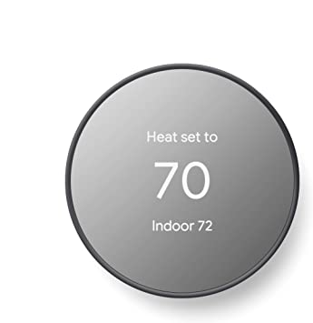 Google Nest Thermostat Smart Thermostat For Home Programmable Wifi Thermostat Charcoal Amazon Com