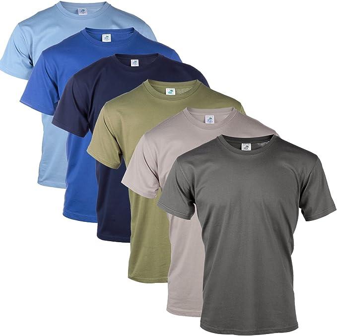 BLU Cherry - Pack de camisetas para hombre lisas, de 100% algodón ...