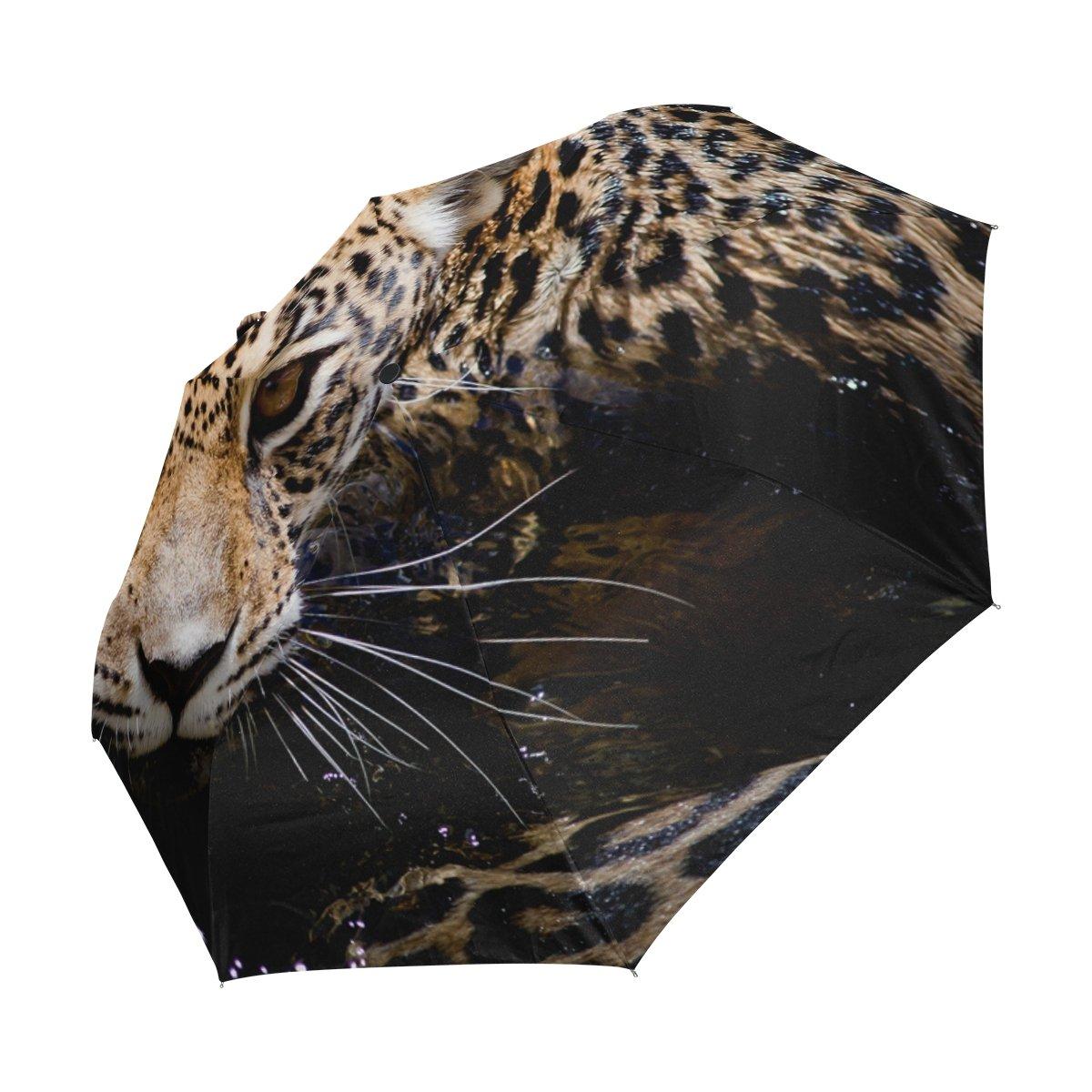 COOSUN Retrato de Jaguar automático 3 Plegable del Paraguas del Parasol Color # 001: Amazon.es: Equipaje