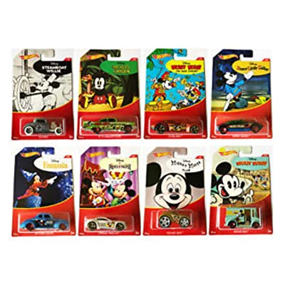 Hot Wheels 2020 Mickey Mouse Set of 8 with: Toys & Games