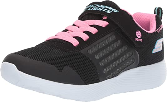 Junior Girls Skechers Go Run 600 Fun Run Trainers In Black