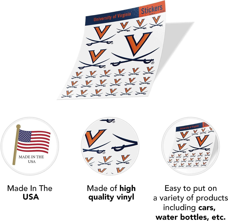 University of Virginia NCAA Sticker Vinyl Decal Laptop Water Bottle Car Scrapbook Type 3 Sheet C