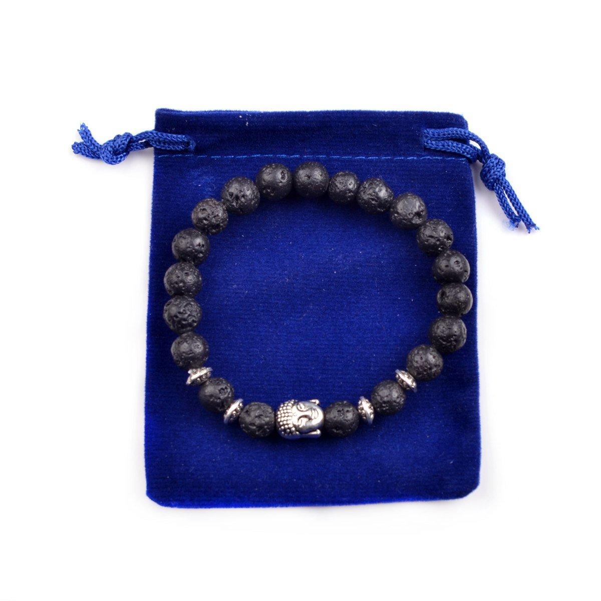 Joya Gift Buddha 8mm Beaded Bracelet for Women Men Gemstone Chakra Bracelet Jewelry for Birthday Gifts