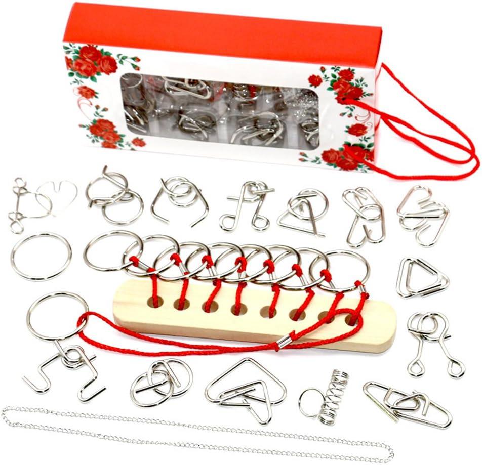 Giocattolo e Regalo Perfetto per Bambini e Adulti #7 CHSEEO Rompicapo in Metallo 3D Puzzle Game Giochi Gioco di Mente Giocattolo Educativo Intelligenza IQ Test Puzzle
