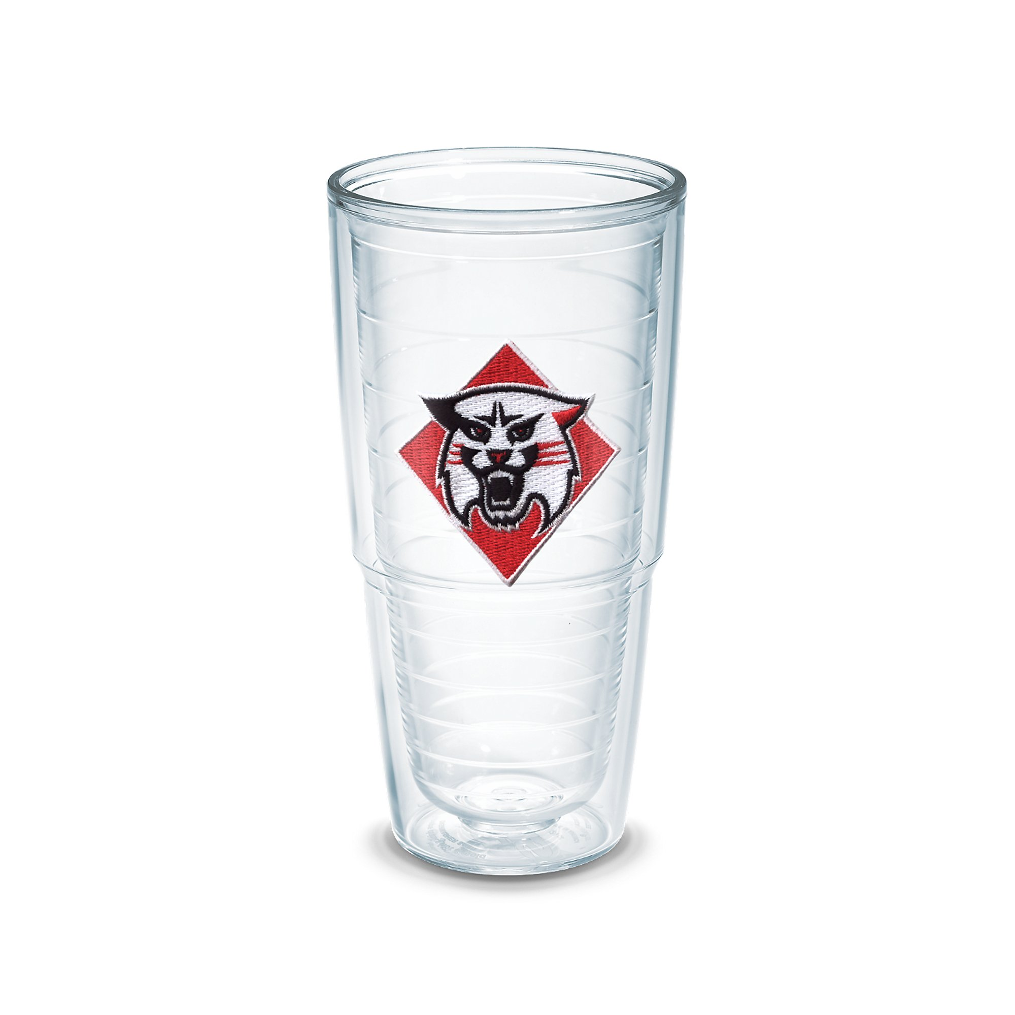 Tervis 1049931 Davidson College Emblem Individually Boxed Tumbler, 24 oz, Clear
