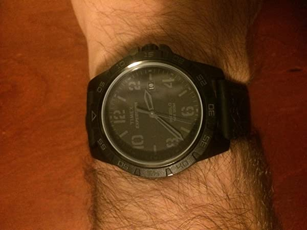 a446147b7550 Timex Unisex T499279J Expedition Rugged Metal Field Blackout Cuero ...