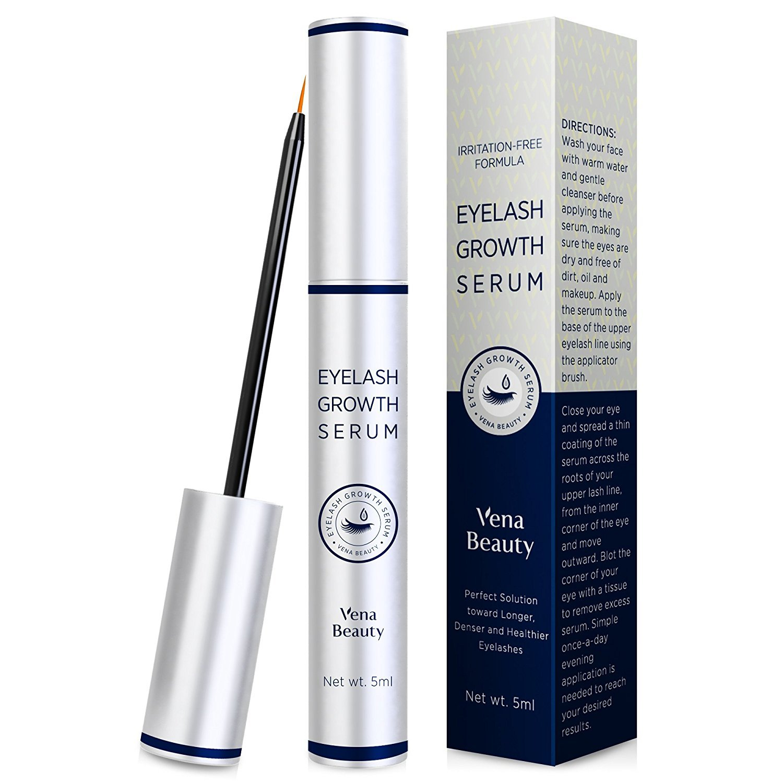 Advanced Eyelash Growth Serum (5ml) & Eyebrow Conditioner Enhancer For Lush Voluminous Long Brow & Lash Boost Primer 3 Month Supply AsaVea BL096