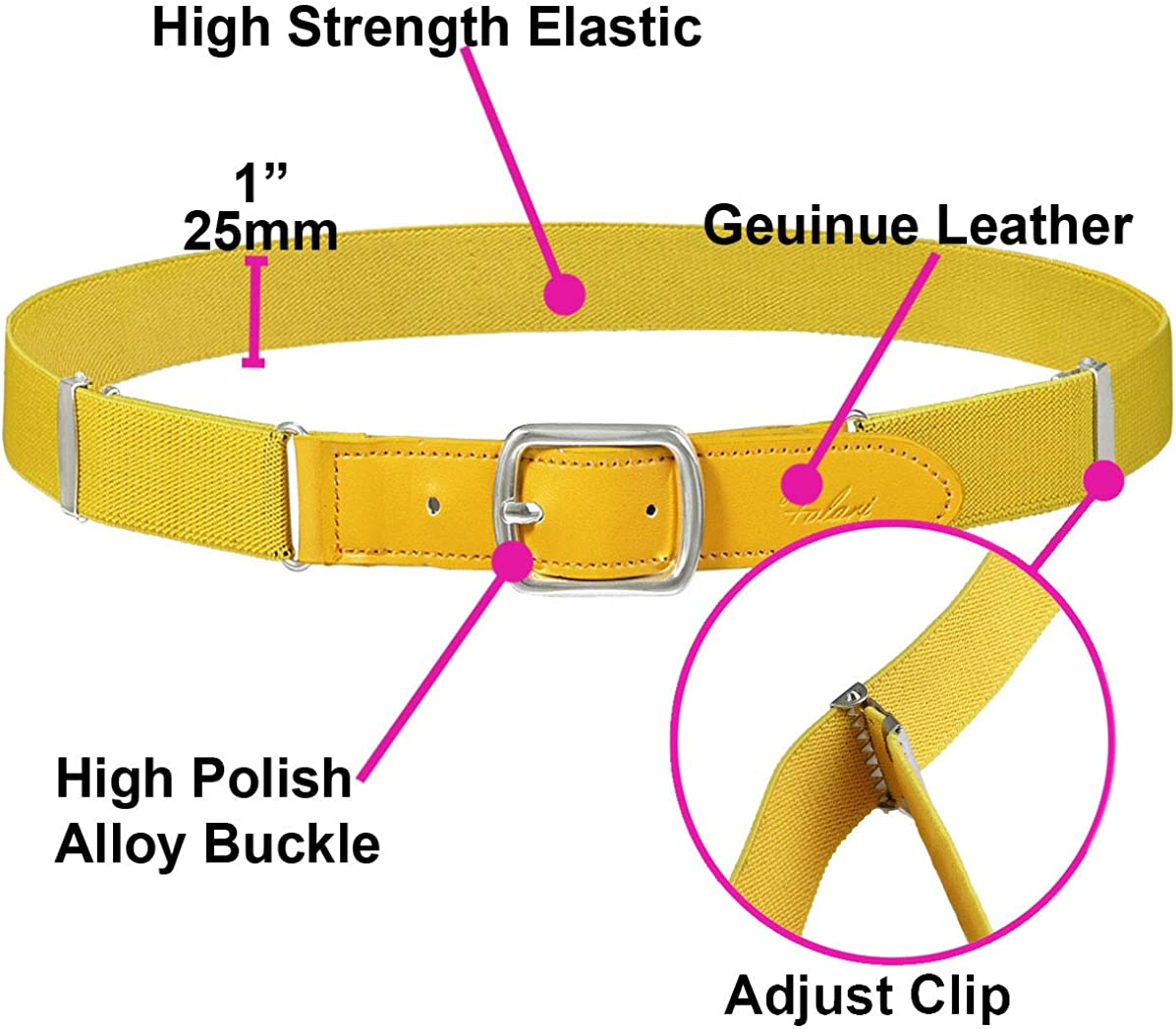 Falari Kids Leather Elastic Adjustable Belts for Boy Girl All Occasion Variety Colors