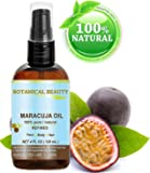 MARACUJA OIL. 100% Pure / Natural. Cold Pressed / Undiluted. For Face, Hair and Body. 4 Fl.oz.-120 Ml. By Botanical Beauty