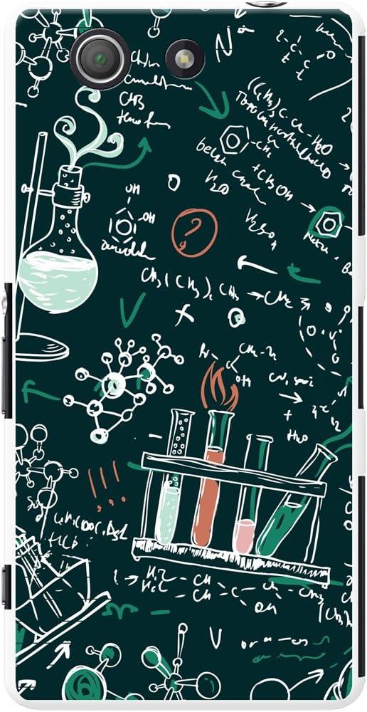 Formulas /& Chalk Drawings plastique Sony Xperia Z3 Compact Brainiac lIntelligence Geek Nerd Science Boffin t/él/éphone Housse//Coque rigide pour t/él/éphone portable Sony D5803, D5833