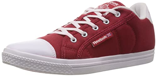 c91c1d55ae1a05 Image Unavailable. Image not available for. Colour  Reebok Classics Women s  On Court III Lp Red and White Canvas Sneakers ...