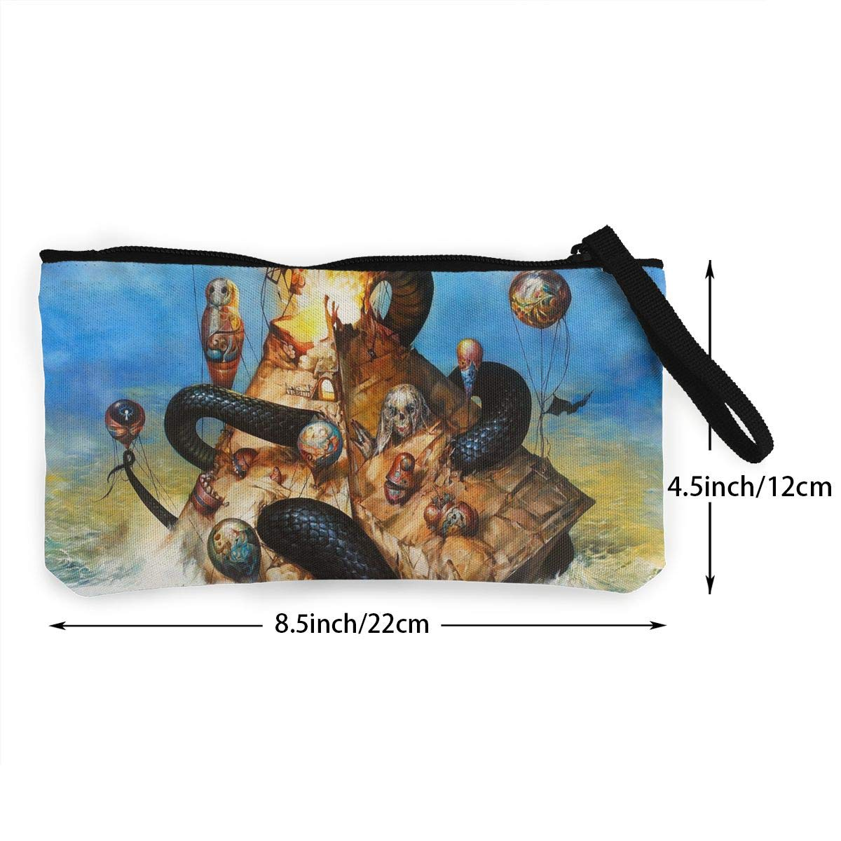 Thomas C Gaona Circa Survive Women and Girl Classic Coin Purse Zipper Pouch Wallet Canvas Clutch Wristlet Cellphone Bag with Handle for