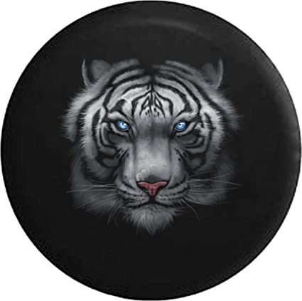 Amazoncom Blue Eyed Tiger Jeep Rv Spare Tire Cover Black 28 In