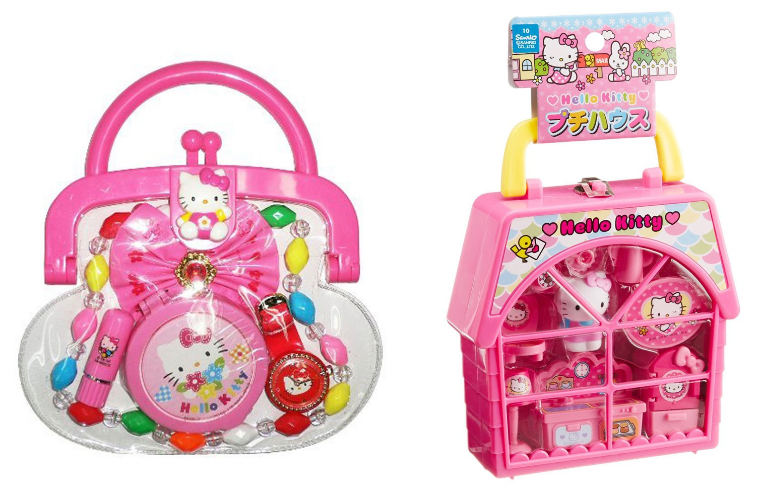 Hello Kitty 2 Sets Petite House and Purse with Accessories (Japan Import)