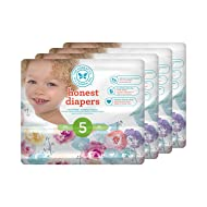 Honest Baby Diapers, Rose Blossom, Size 5, 100 Count